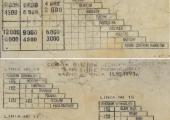 Cennik biletów jednorazowych na liniach podmiejskich funkcjonujących na zlecenie ZTM z 1993 r.